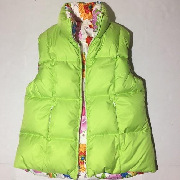 5153b5014d Skea Paris Vail Reversible Floral Quilted Vest L